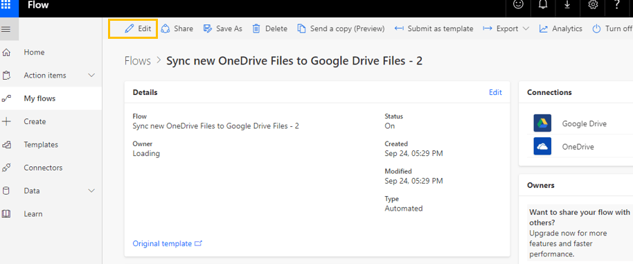 Test Your Newly Created Flow in OneDrive