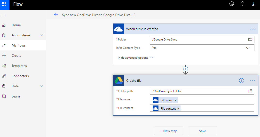 Test Your Created Flow in OneDrive