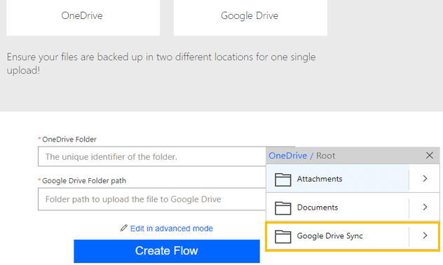 Image showing how to choose your folder paths